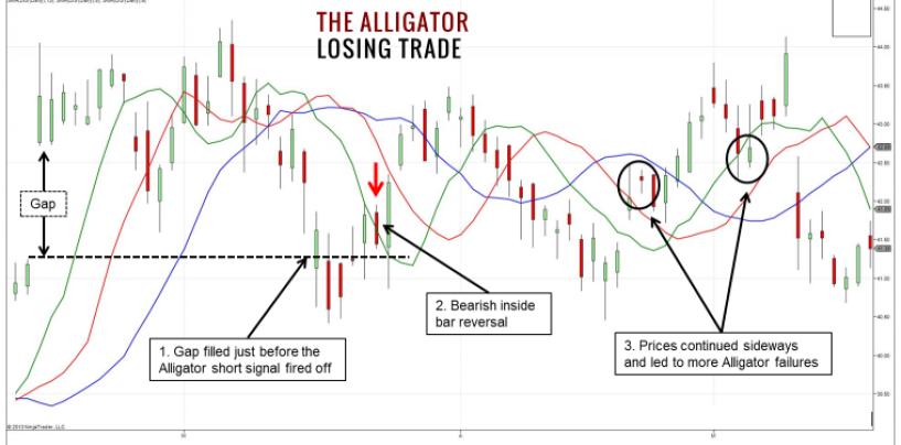 Indicatore Alligator (coccodrillo)