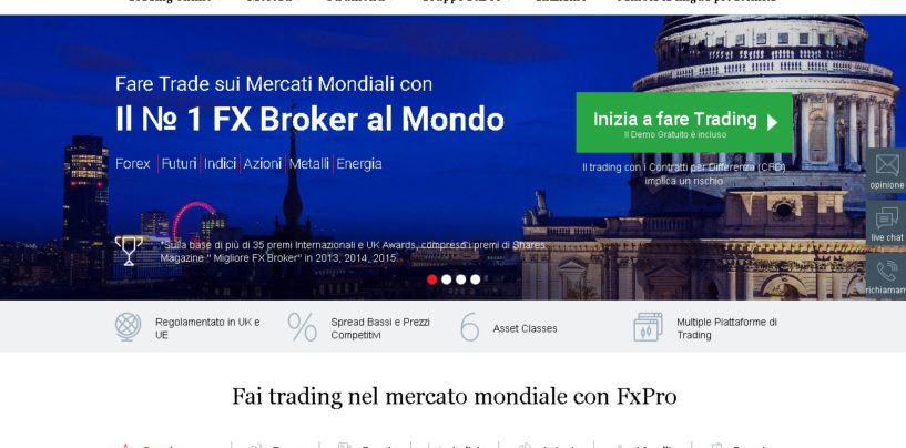 FxPro, recensioni, opinioni e guida completa al broker Forex FXPRO.it