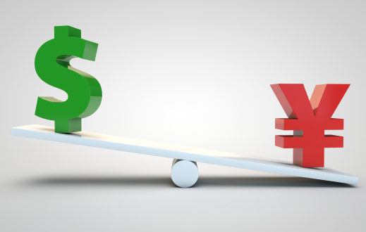 yen versus dollar