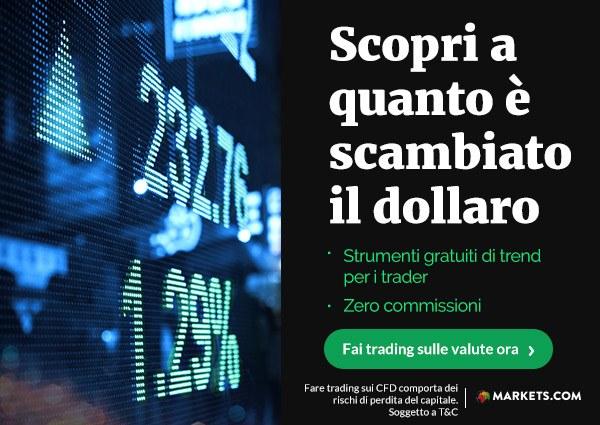 Markets.com: trading sul dollaro