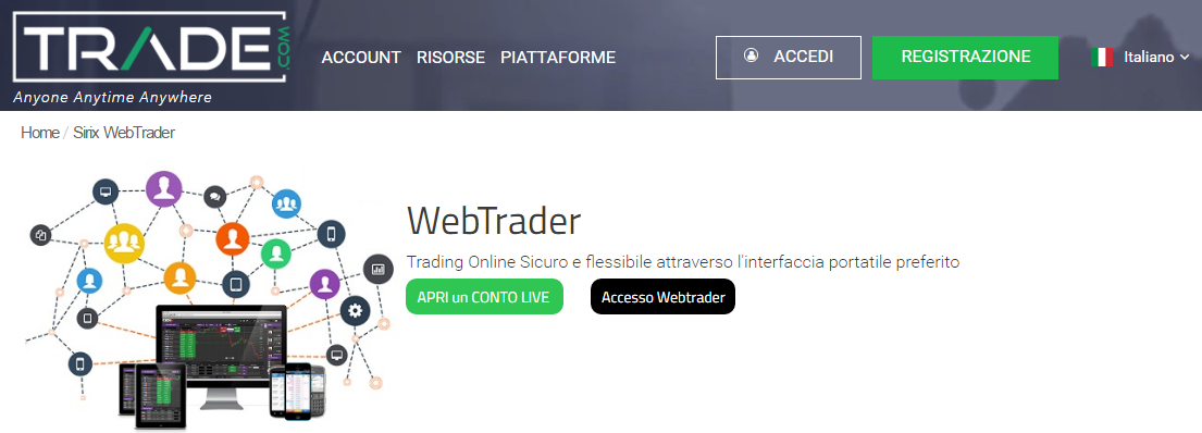 trade.com-piattaforma webtrader