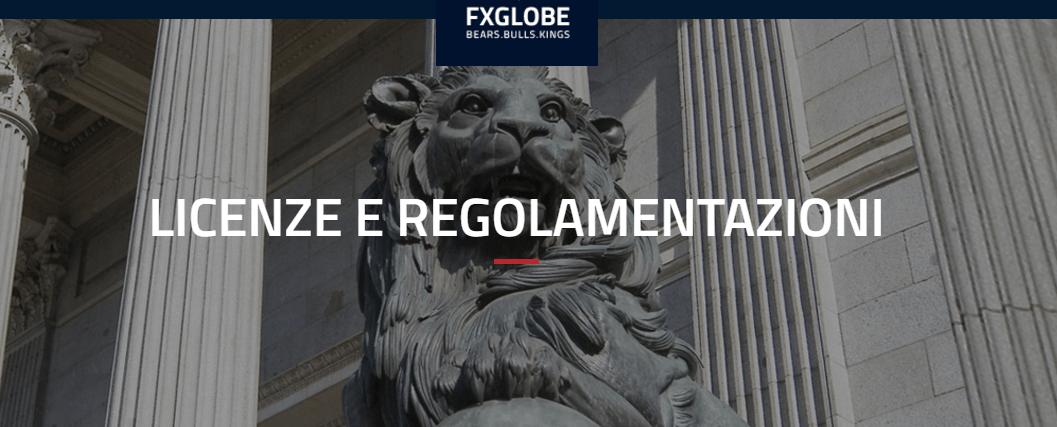 fxglobe-licenza eregolamentazione