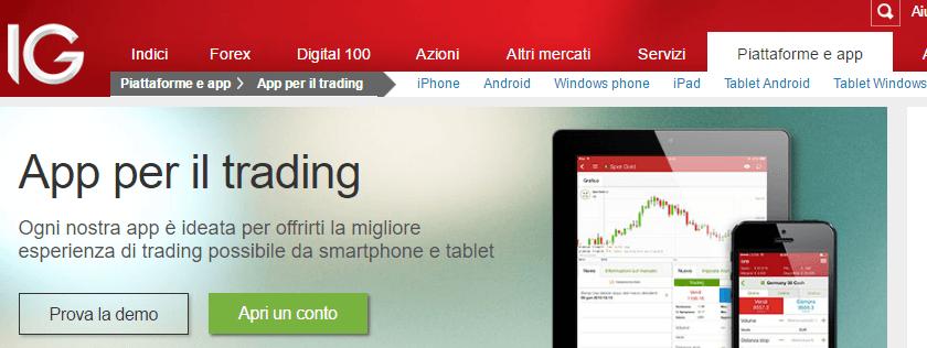 IG -piattaforma mobile