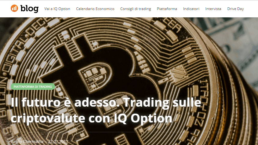 IQ Option trading bitcoin