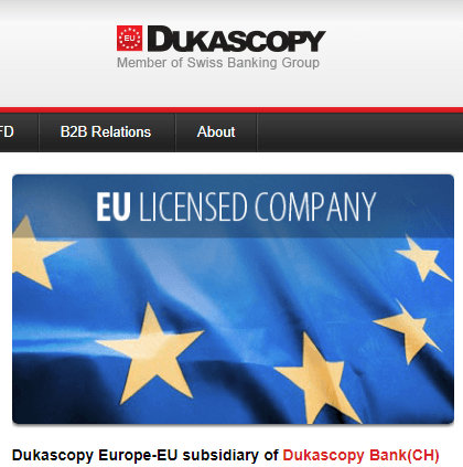 Dukascopy forex broker