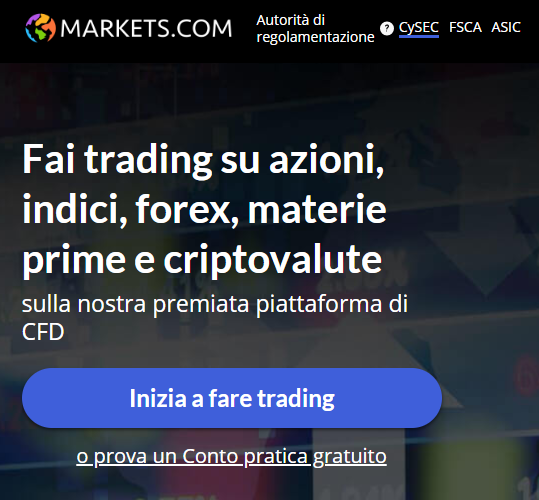 Markets.com asset disponibili